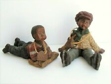 Sarah's Attic Limited Edition (2) Htf Willie Black Americana Figures
