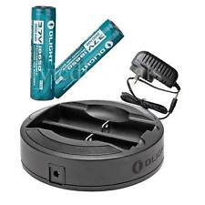 Olight Omni-DOK universal charger w/two 18650 2600mAh rechargeable Liion battery