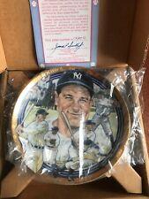 Lou Gehrig 1992 Hamilton Best Of Baseball Collection Plate NIB COA Yankees