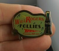 Vtg Will Rogers Follies 1994 Coca Cola Branson Missouri pin pinback button *GG