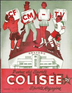 1955-56 Quebec Aces-Shawinigan Falls Cataracts Program QHL BEAUTY!!