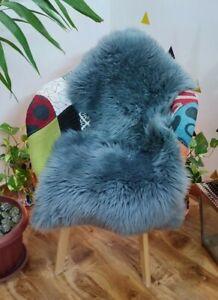 Australian Sheepskin Lambskin Rug Grey Long Wool Fluffy Genuine Skin Gray Rugs