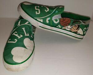Boston Celtics Slip-On Canvas Shoe Sneakers Dark Green NBA LAB Chicago Bulls 7.5