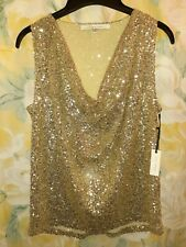 Lovers And Friends Gold Sequin Top sz Med