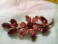 With Two Tone Settings A 1950s Flower Brooch