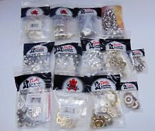 11 Packs + Mics Tandy Leather Factory Snaps - Nice Variety Lot
