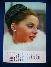 1964 Virna Lisi Japan VINTAGE calendar POSTER VERY RARE