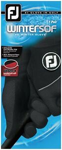 Footjoy Wintersof Golf Gloves - Black - Pick Your Size - Brand New!