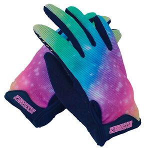 ZippyRooz Rainbow Toddler/ Little Kids Bike Gloves Full Long Finger Girls Boys