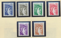 France Stamps Scott #1660//1668, Mint Never Hinged, 6 Stamps, 1979 Issues
