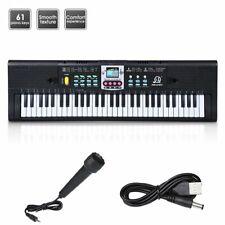 61 Key Electronic Keyboard Electric Music Digital Piano Organ w/Microphone Kids