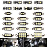23X LED Weiß Auto Dome Innenbeleuchtung Trunk Spiegel Nummernschild Lampen DE