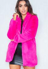 Fashion Women Faux Fur Outerwear Ladies Cardigan Parka Winter Warm Jacket Coat