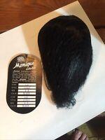 "New Monique Doll Wig ""SCOUT"" sz8-9 BLACK, original box=====ak"