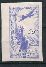 FRANCE - Poste aérienne - Alliance US-FR- 50Fr bleu  NON EMIS