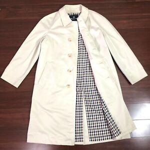 Authentic AQUASCUTUM Men Trench Coat Size Small 38 Designer Jacket $1200 Medium