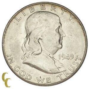 1949-S Silver Franklin Half Dollar 50C (Choice BU Condition) Full Mint Luster