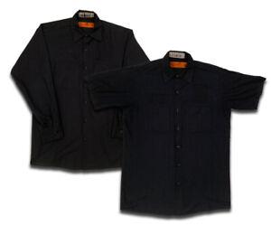 Red Kap Work Shirts 2 Pocket Solid Color Short & Long Sleeve Uniform #CC