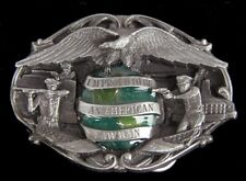 PROUD TO BE AN AMERICAN LAWMAN BELT BUCKLE VINTAGE 1985 GREAT DETAIL