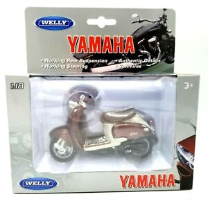 Welly Yamaha 1:18 Vino YJ50R 1999 Diecast Model Motorcycle Authentic Details NEW