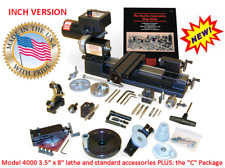 """SHERLINE 4000-C 3.5"""" X 8"""" LATHE (INCH) + the """"C"""" Package (METRIC SEE PN 4100C)"""