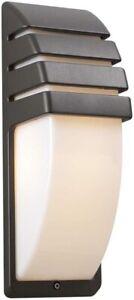 Synchro Exterior Outdoor Wall Lantern Light Matte Bronze Gray Finish Matte Plast