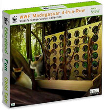 NEW IN BOX World Wildlife Fund WWF Wooden Madagascar 4 in a Row - Family Game