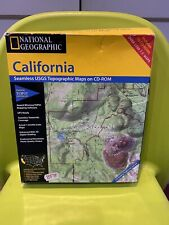 National Geographic California Seamless USGS Topographic Maps On CD-ROM