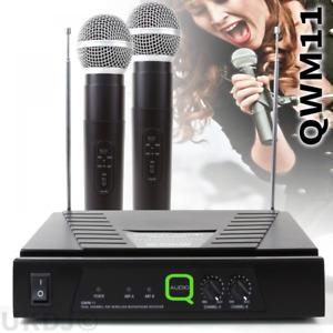 Q-Audio QWM11 Twin VHF (173.8 & 175.0) Wireless Radio Microphone System