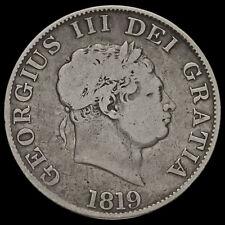 1819 George III Milled Silver Half Crown, A/F