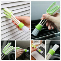 1x Car Vent Air-Condition Keyboard Blind Cleaner Duster 2 Heads Cleaning Brush