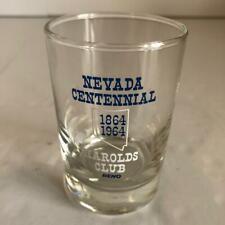 Harolds Club Reno Nevada Centennial 1864-1964 Short Cocktail Glass