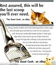New Endurance Stainless Steel Cat Kitty Litter Box Poop Scoop High Sides Charity