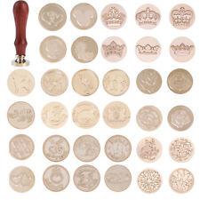 Vintage Abdichtung Siegelwachs Stamp Holz handhaben Für Hochzeitseinladung