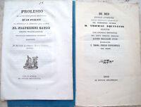 1835 LOTTO OPUSCOLI TIPOGRAFIA MELANDRI LUGO DI ROMAGNA