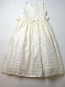 Girl Cinderella Brand Off White Easter Holiday Special Occasion Party Dress 12