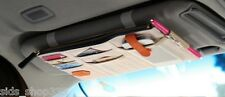 ★  Point pocket car visor organizer ★ TAN ★ great gift Canvas Leather and mesh