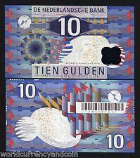 NETHERLANDS 10 GULDEN P99 1997 EURO BIRD UNC DUTCH CURRENCY MONEY BILL BANK NOTE