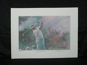 Masters Champion Sam Snead Signed Walt Spitzmiller L/E Golf Lithograph JSA