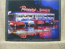 ROSIE'S DINER Tin Metal Sign Classic Cars Neon Rec Room NEW