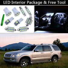 8PCS Bulbs White LED Interior Lights Package kit Fit 2002-2010 Ford Explorer J1