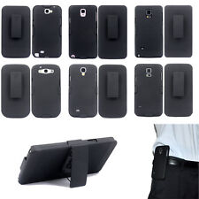 Black Hybrid Belt Clip Shell Holster Hard Stand Case Cover for S5 6 7 Note3 4 5