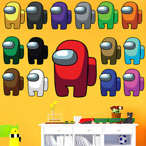Among Us Impostor Game Wall Sticker Kids Boys Girls Bedroom Decal Gift Crewmate