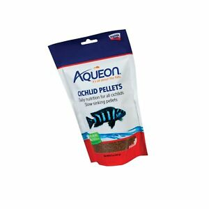 Aqueon Cichlid Food Pellets 8-1/2-Ounce MINI Standard Packaging