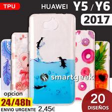 FUNDA TPU Gel dibujos para HUAWEI Y5 2017  Y6 2017 dibujo case print case color