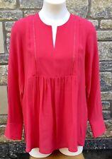 * Comptoir Des COTONNIERS * Long Sleeved Silk Blouse Lollipop 38 UK 10