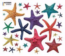 Aufkleber Sticker Wandaufkleber Seestern Starfish Start Bunt Set Duche Bad WC