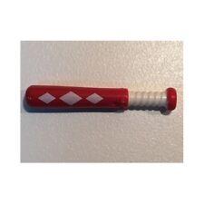 LEGO - Minifig, Utensil Baseball Bat, White Grip Handle & 3 White Diamonds - Red