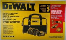 |1| Dewalt DCB205CK 20-Volt MAX Lithium Battery DCB205 5AH + DCB115 Charger, Bag
