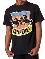 Wrangler Mens T-Shirt Black Size Medium M Logo Stampede Graphic Print 180